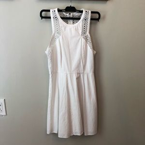 White Fit and Flare size 2 American Eagle dress